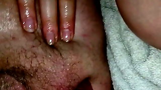 Getting jerked off with a buttplug up my ass.